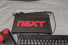 the case with a joystick and keyboard